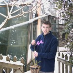 Luke Barnes and Simon Pugh Jones braved the snow to care for the plants!