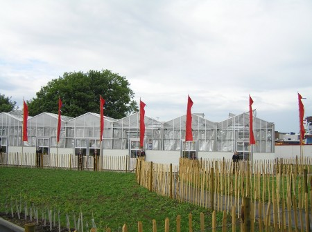 Greenhouses with Flags